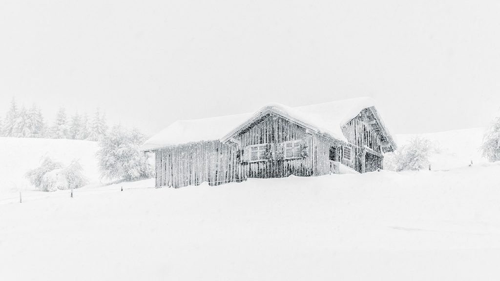 House cover in snow
