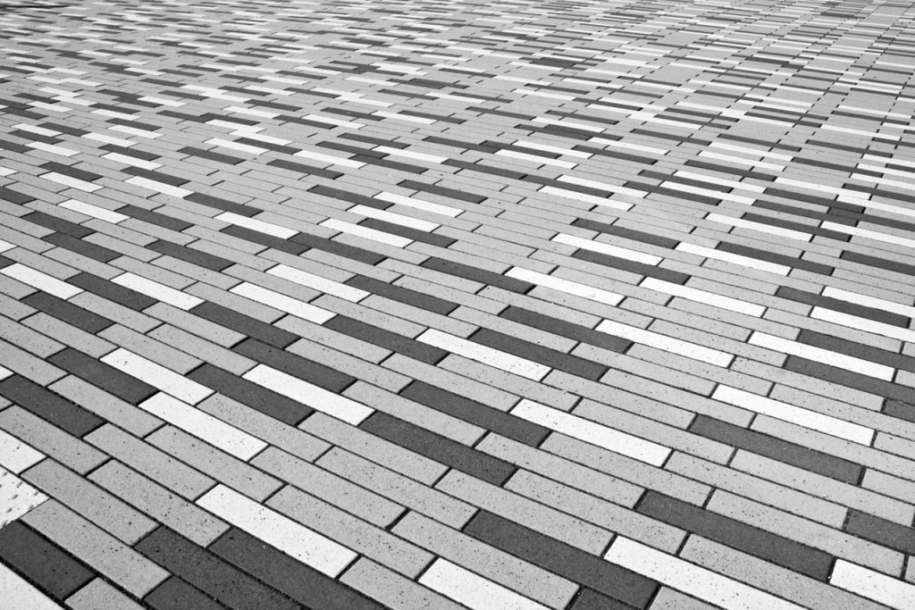 Beautiful black gray and white paving